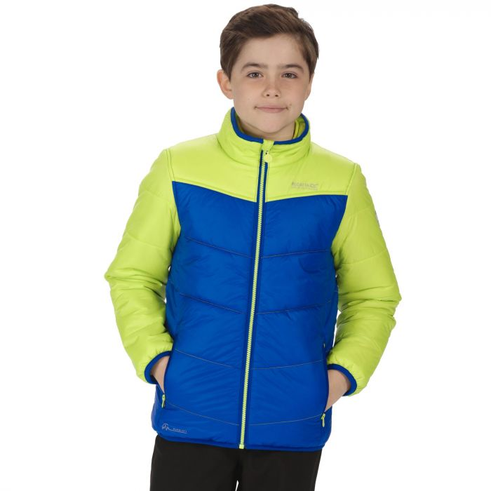 Kids Icebound III Insulated Jacket Surfspray Blue Lime Zest