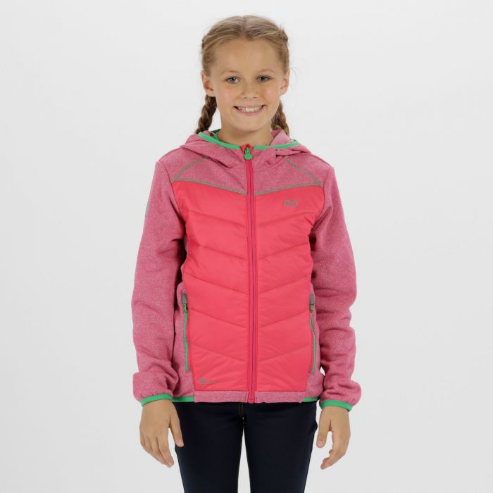 Kids Kielder III Hybrid Lightweight Insulated Jacket Jem Marl Bright Blush