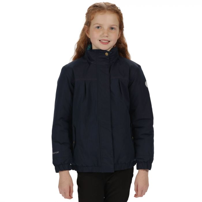 Kids Sugarwell Waterproof Jacket with Concealed Hood Navy