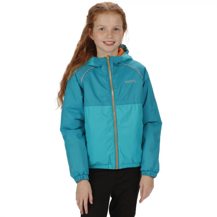 Kids Urbanyte Waterproof Hooded Jacket Aqua Enamel