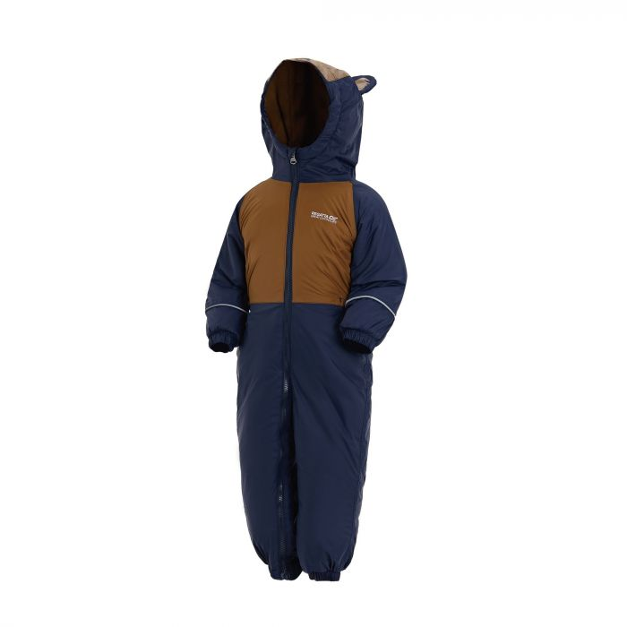 Mudplay III Breathable Waterproof Puddle Suit Navy Brown Tan