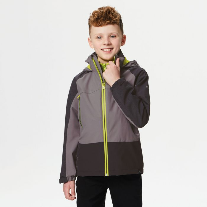 Kids Hydrate III Waterproof 3-in-1 Jacket Seal Grey Reflective Rock Grey