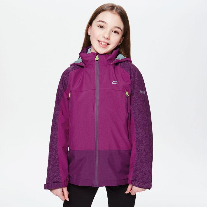 Kids Hydrate III Waterproof 3-in-1 Jacket Winberry Reflective Camellia
