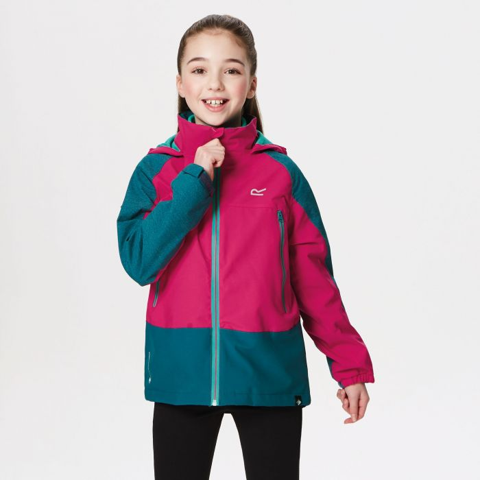 Kids Hydrate III Waterproof 3-in-1 Jacket Moroccan Blue Reflective Duchess