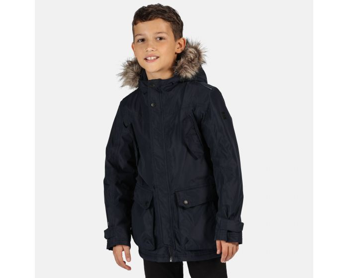 Size Infantil Rojo cl/ásico Gris Sello Regatta Professional Kids Cadet Waterproof Insulated Faux Fur Hooded Parka Jacket with Safety Reflective Detail Chaqueta