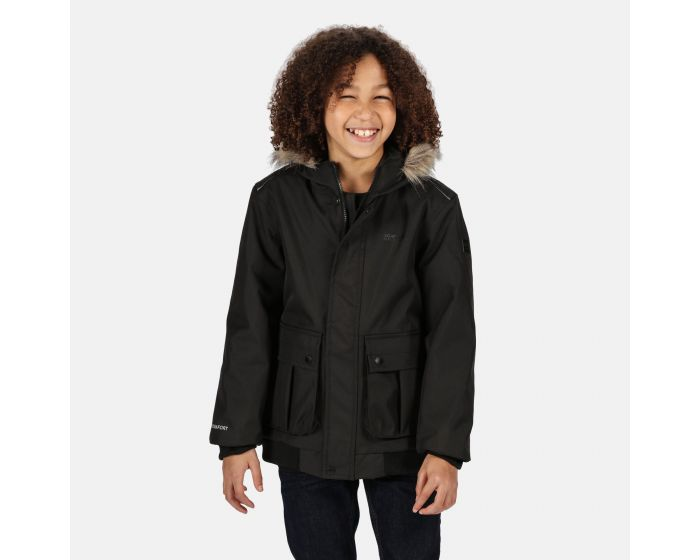 Regatta Balzo Waterproof Taped Seams Insulated Lined Hooded Jacket With Reflective Trim Chaqueta Unisex ni/ños