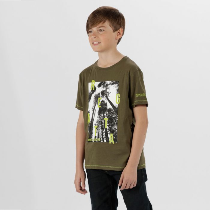 Kids Bosley Cool Weave Cotton T-Shirt Ivy Green