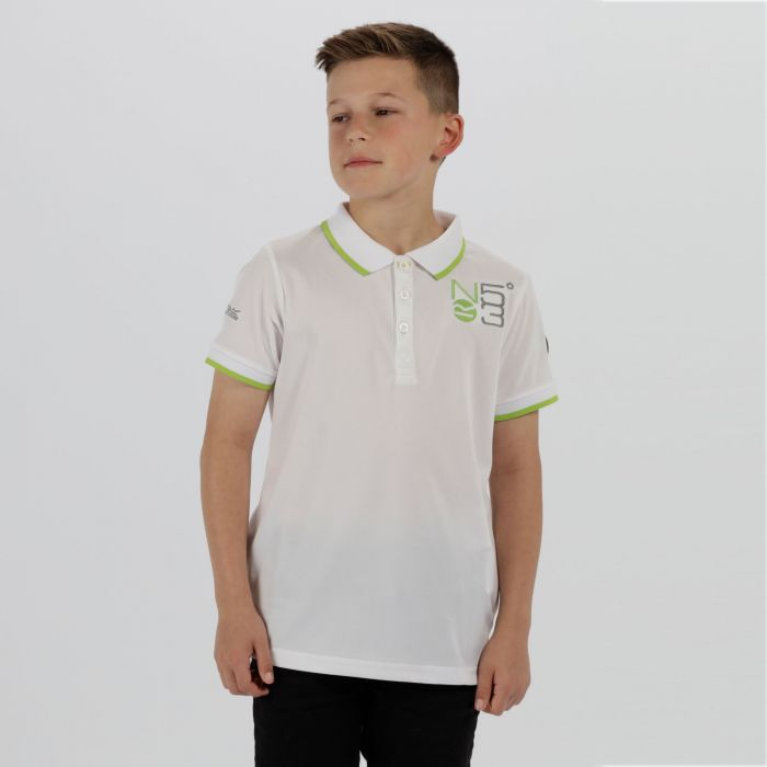 Kids Talor Quick Dry Polo Shirt White