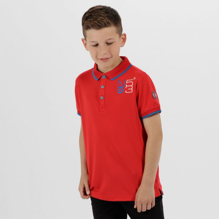 Kids Talor Quick Dry Polo Shirt Pepper