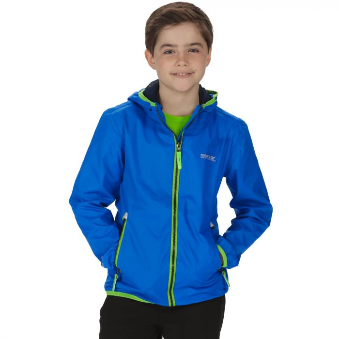Kids Lever II Waterproof Hooded Jacket Oxford Blue