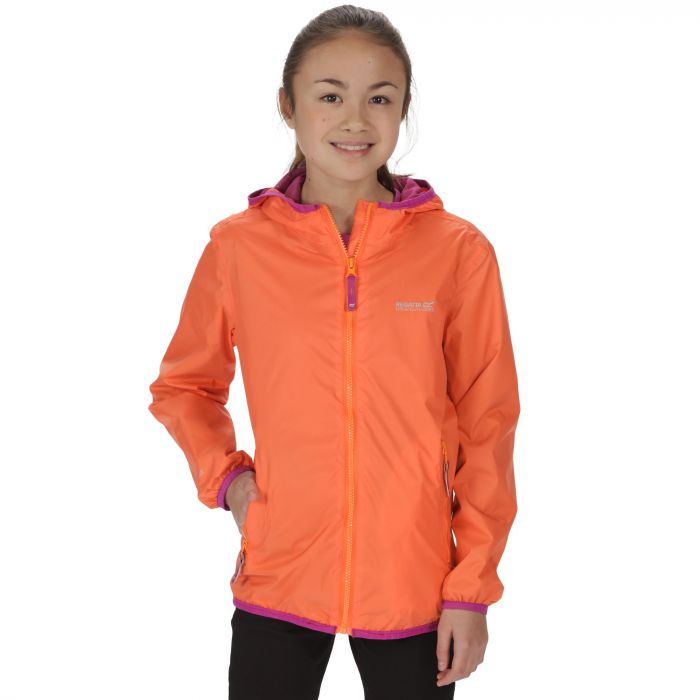 Kids Lever II Waterproof Hooded Jacket Magma Orange