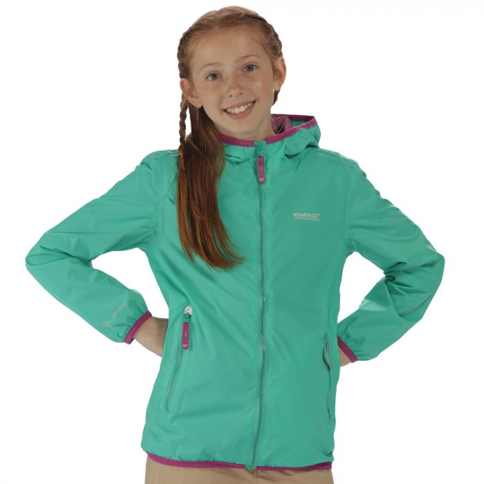 Kids Lever II Waterproof Hooded Jacket Pale Jade