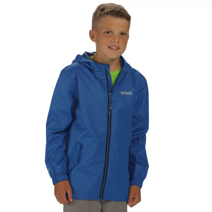 Kids Disguize Waterproof Jacket with Water Activated Pattern Blue
