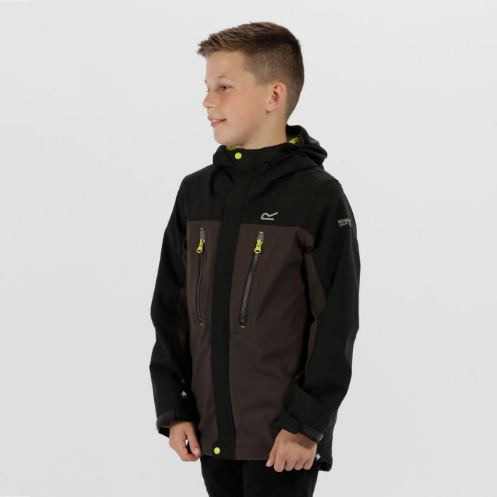 Kids Hipoint Stretch III Waterproof Jacket Black Ash