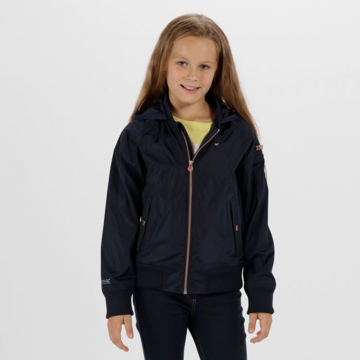 Kids Elbertyna Waterproof Jacket Navy