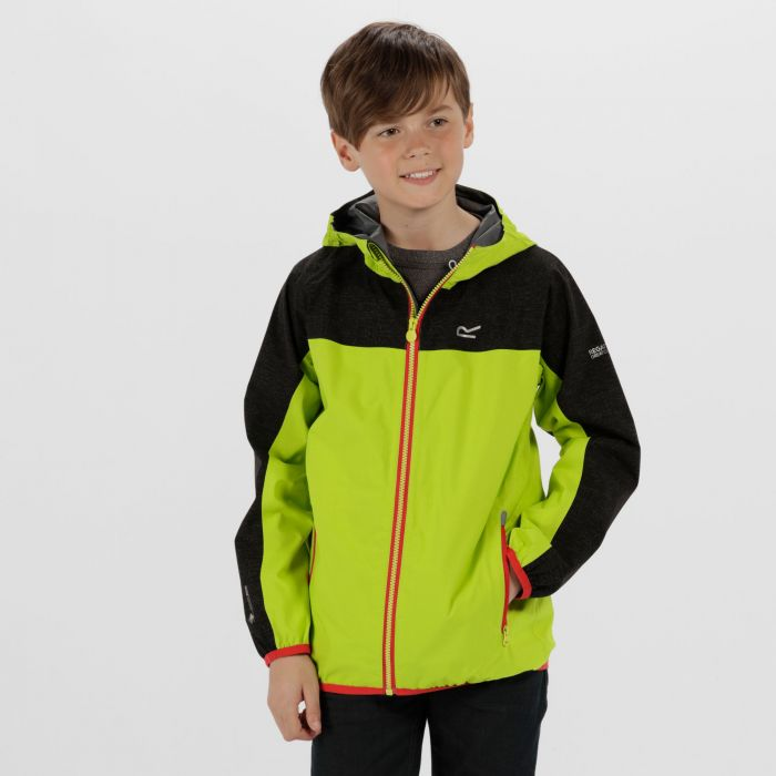 Deviate Reflective Waterproof Jacket Lime Zest Black