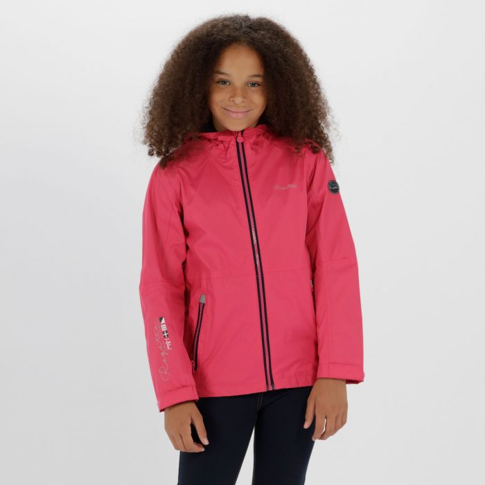 Kids Feargus Waterproof Jacket Hot Pink