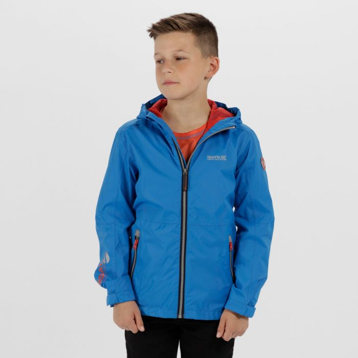 Kids Feargus Waterproof Jacket Skydiver Blue