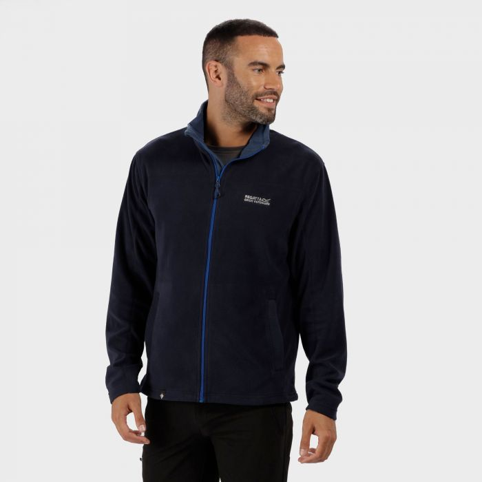 Fairview Mid Weight Full Zip Fleece Navy Dark Denim