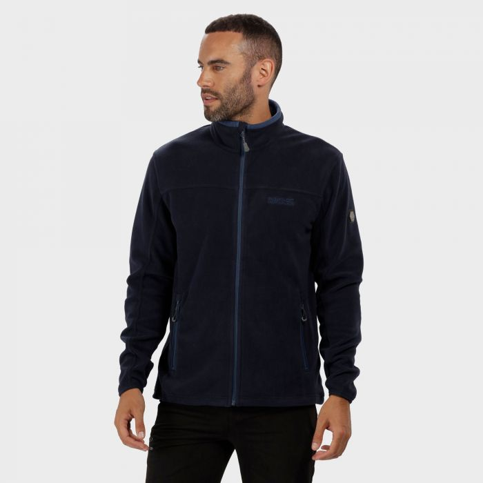 Stanton II Mid Weight Full Zip Fleece Navy Dark Denim