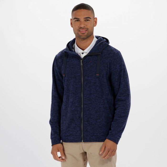 Laikin Hooded Full Zip Fleece Navy