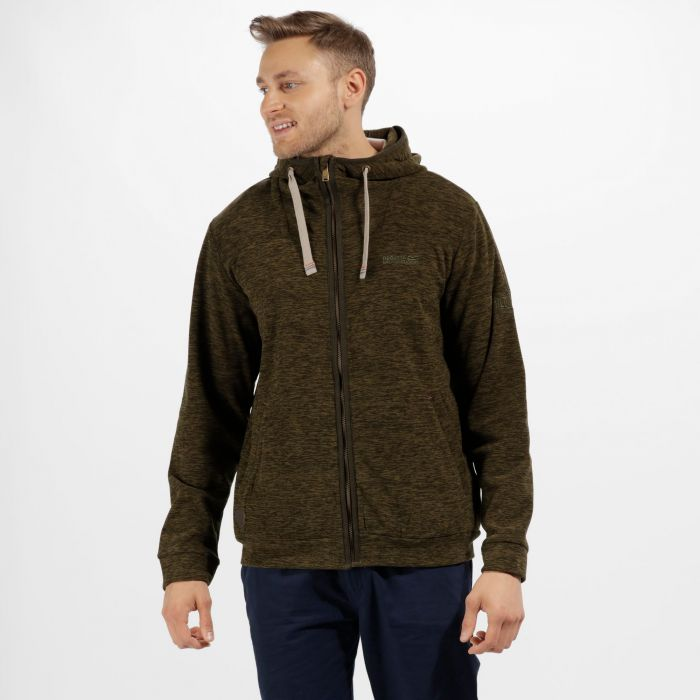 Laikin Hooded Full Zip Fleece Bayleaf