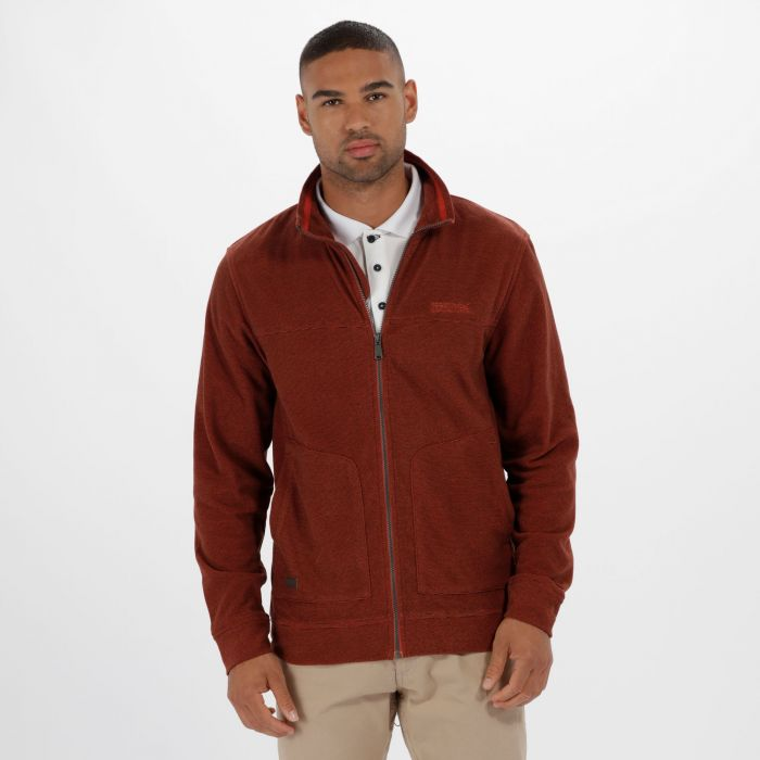 Ultar III Full Zip Mini Stripe Fleece Burnt Tikka