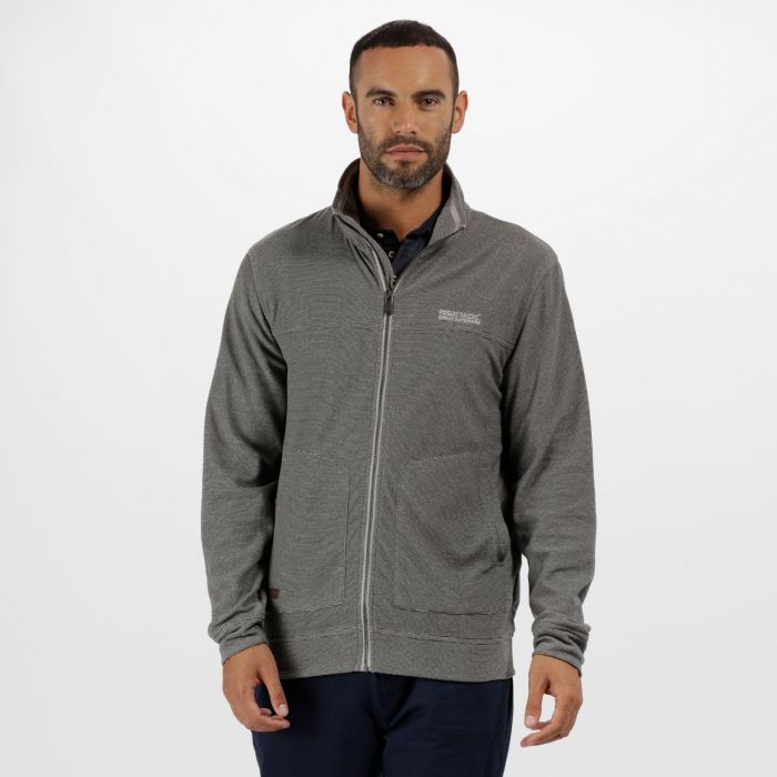 Ultar III Full Zip Mini Stripe Light Steel