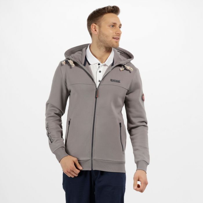 Dinnsmore Cotton Drawback Hoodie Rock Grey