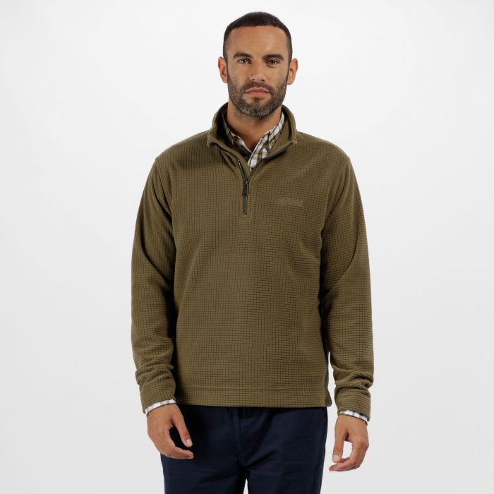 Elgon III Half Zip Textured Grid Fleece Ivy Green