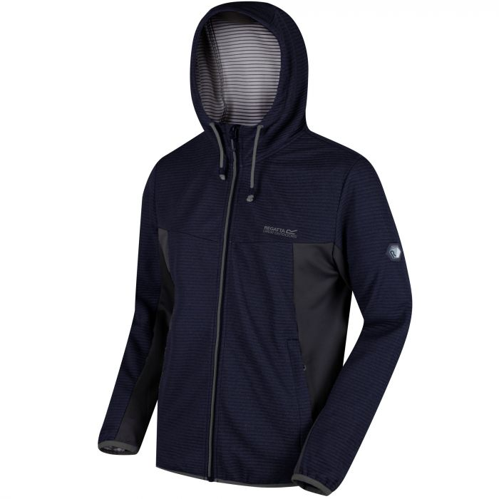 Tarnis Full Zip Hooded Fleece Navy Seal Grey