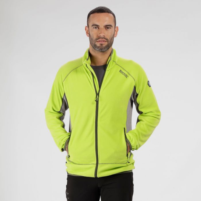 Ashton II Full Zip Fleece Lime Green Rock Green