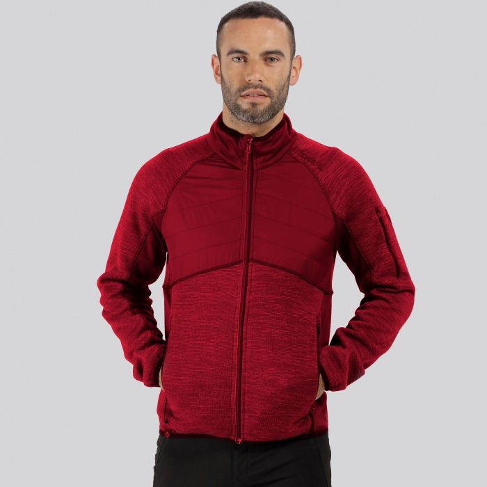 Robson Hybrid Knit Effect Fleece Delhi Red