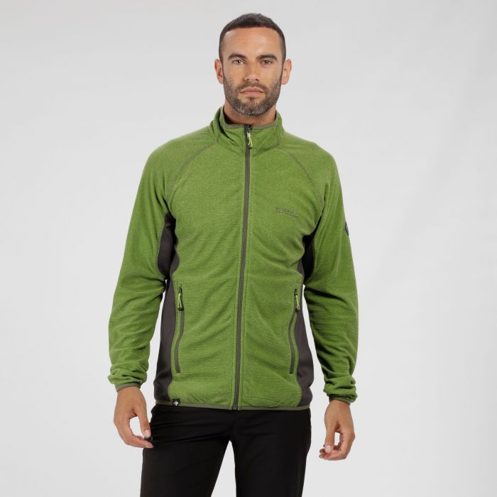 Mons III Mid Weight Full Zip Fleece Lime Green Seal Grey
