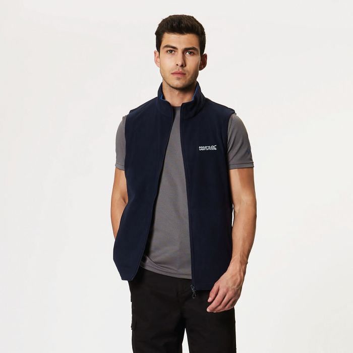 Tobias II Lightweight Fleece Gilet Bodywarmer Navy Oxford Blue
