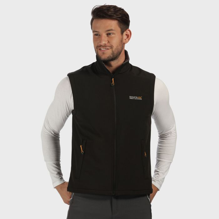 Bradwell II Wind Resistant Stretch Softshell Gilet Black Iron