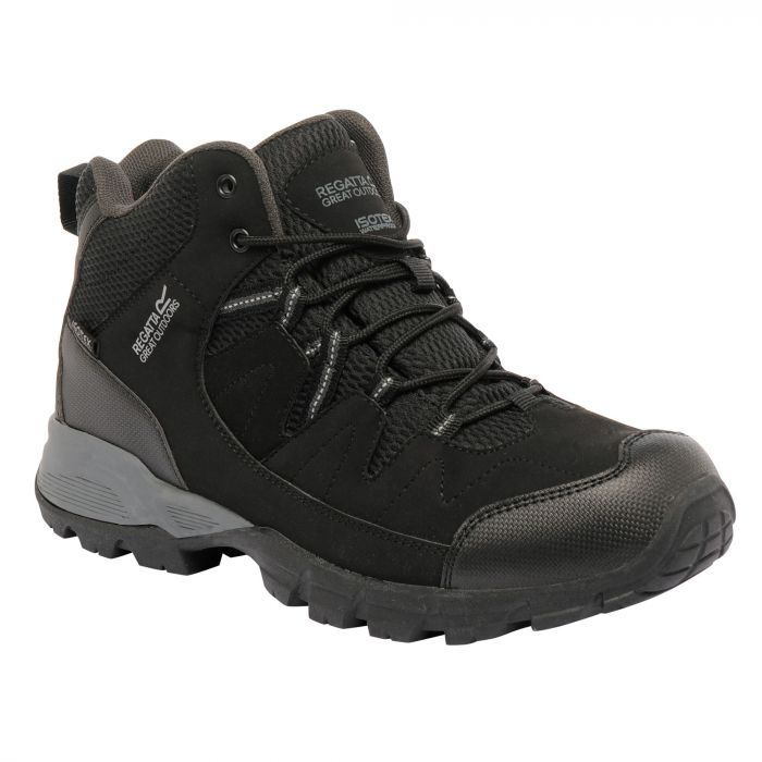 Men's Holcombe Mid Walking Boots Black Granite