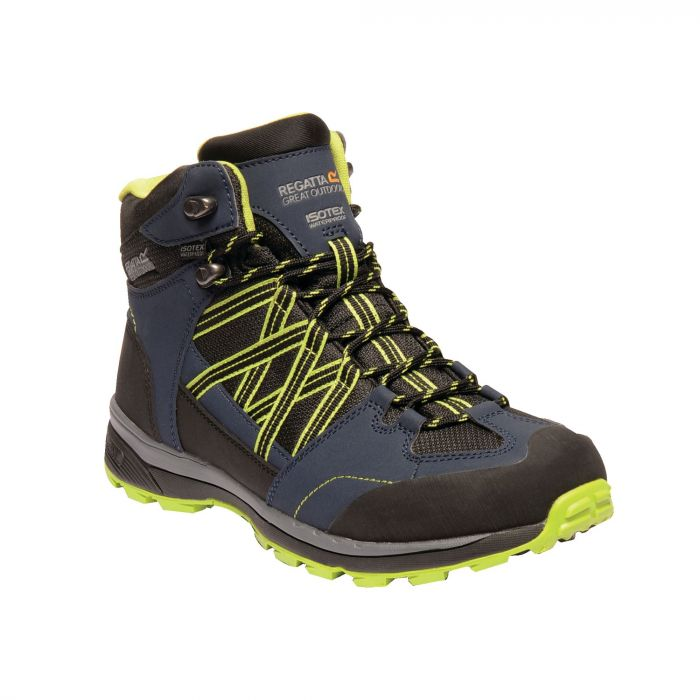 Samaris Mid II Boots Navy Lime Green