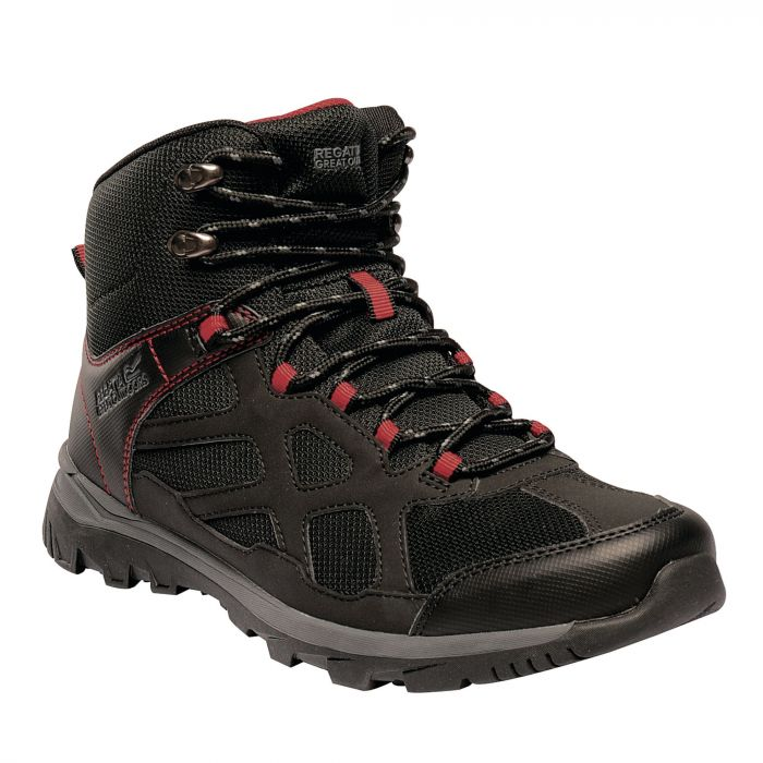 Men's Kota Crux Mid Walking Boots Black Pepper