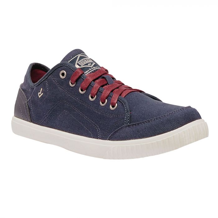 Men's Turnpike Lite Lightweight Canvas Shoes Navy Delhi Red