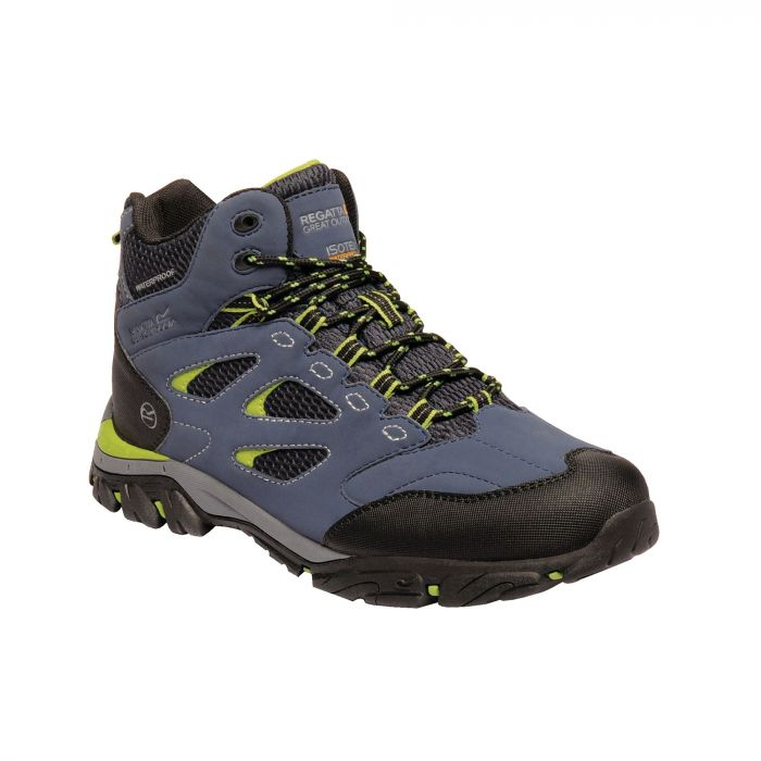 Holcombe IEP Mid Boots Dark Denim Lime Green
