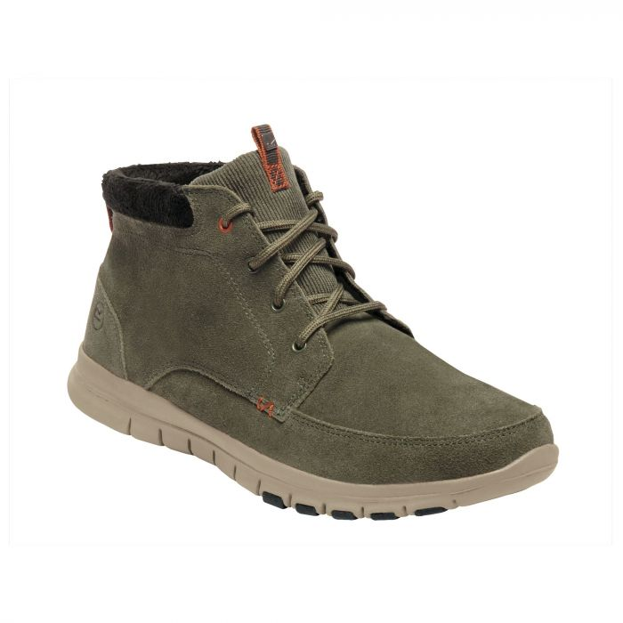 Marine Mid Thermo Boots Dark Khaki Orange Umber