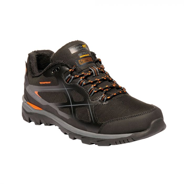 Kota Thermo Low Walking Shoes Black Granite