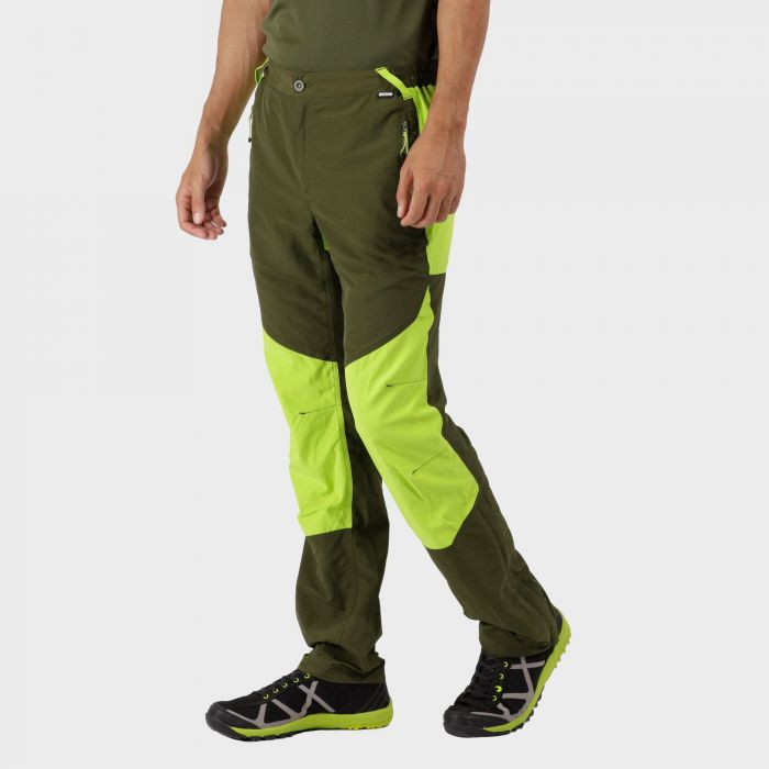 Sungari Trousers Racing Green Lime Green