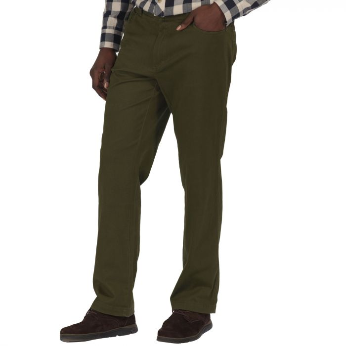 Lawry Cotton Twill Trousers Dark Khaki