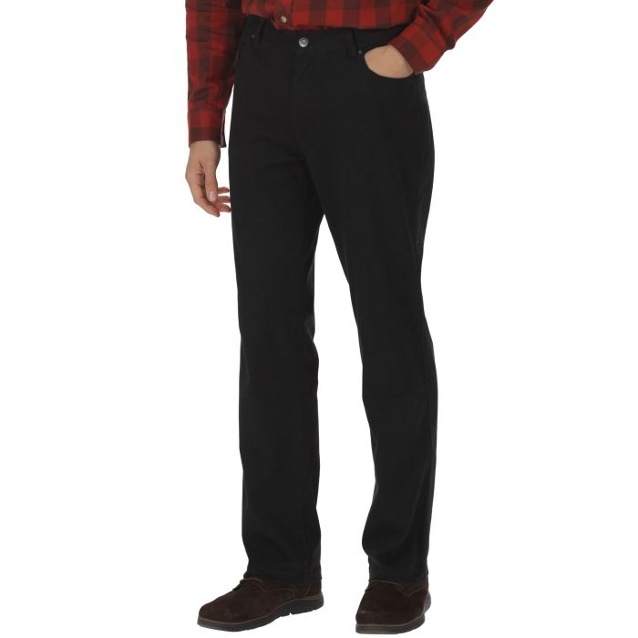 Lawry Cotton Twill Trousers Black