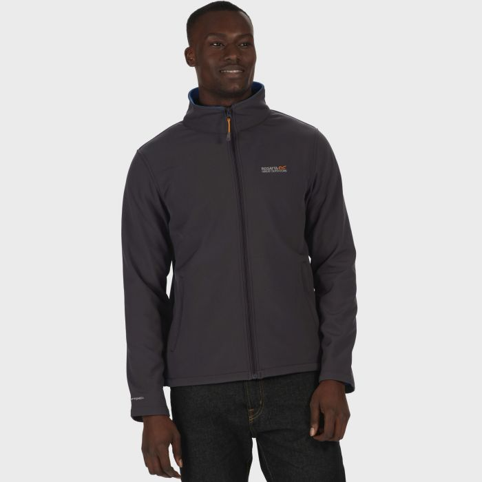 Cera III Funnel Neck Softshell Jacket Iron Oxford Blue