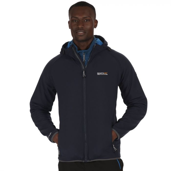 Men's Arec Stretch Hooded Softshell Jacket Navy Imperial Blue