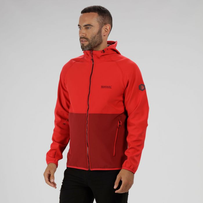 Arec II Hooded Softshell Jacket Delhi Red Seal Grey