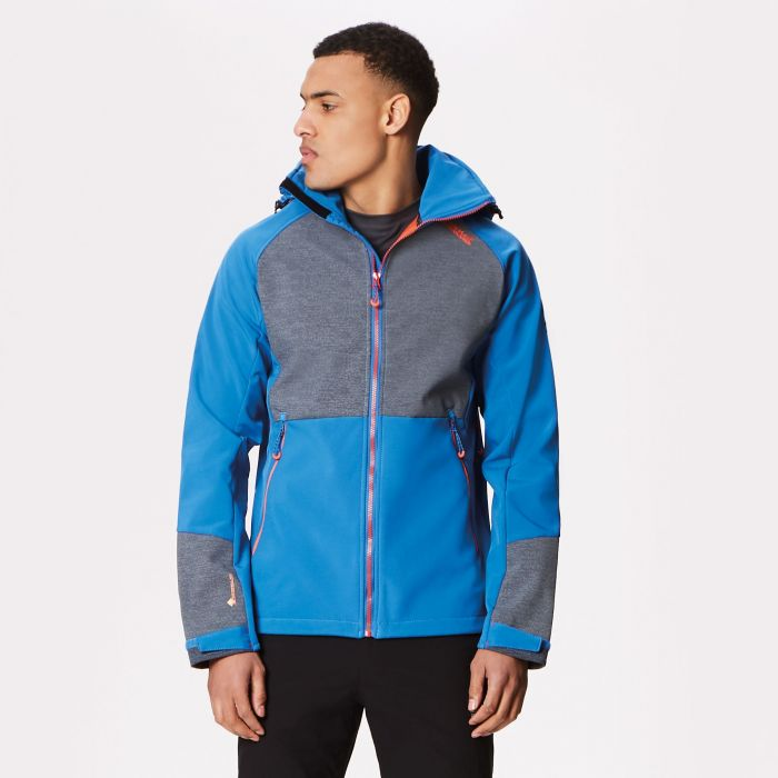 Hewitts IV Wind Resistant Stretch Softshell Jacket Oxford Blue Seal Grey